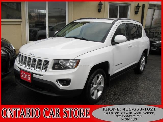 2015 JEEP Compass HIGH ALTITUDE LEATHER SUNROOF BLUETOOTH in Toronto, Ontario