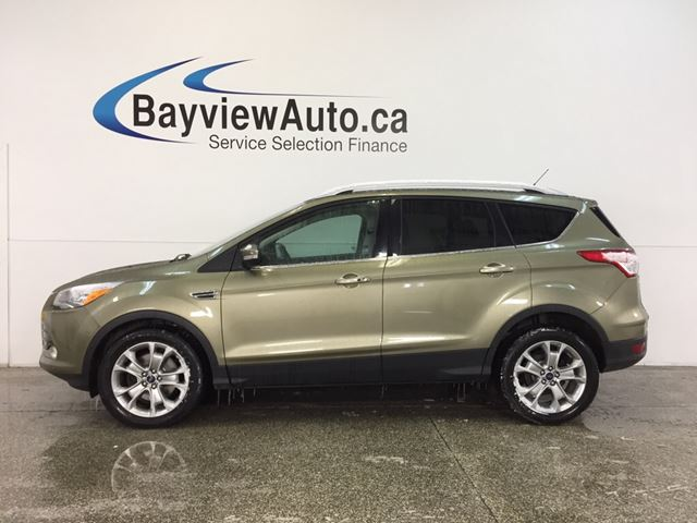 2014 FORD ESCAPE TITANIUM- ECOBOOST|PANOROOF|HTD LTHR|SONY|BLIS! in Belleville, Ontario