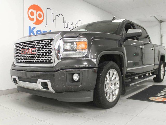 2015 GMC SIERRA 1500 Denali- NAV, sunroof, Heated/cooled power leather seats and a back up cam in Edmonton, Alberta