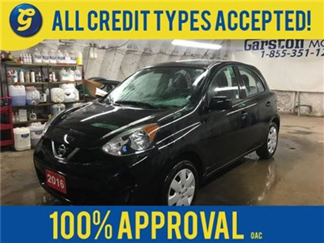 2016 NISSAN MICRA S*PHONE CONNECT*TRACTION CONTROL*KEYLESS ENTRY*POW in Cambridge, Ontario