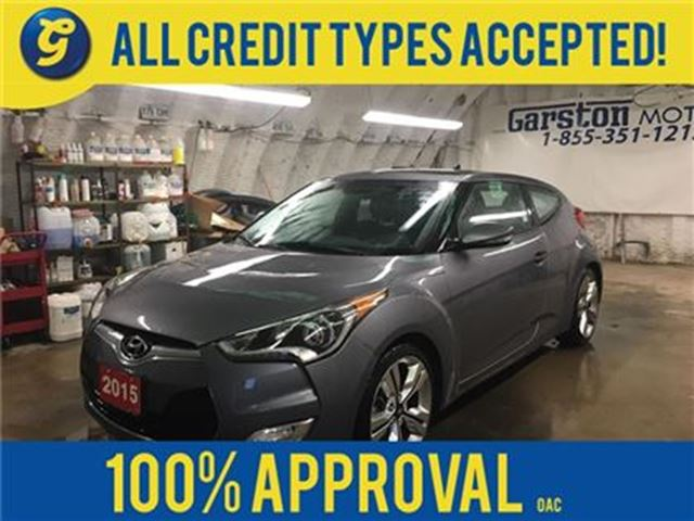 2015 HYUNDAI VELOSTER w/TECH*NAVIGATION*PANORAMIC SUNROOF*BACK UP in Cambridge, Ontario