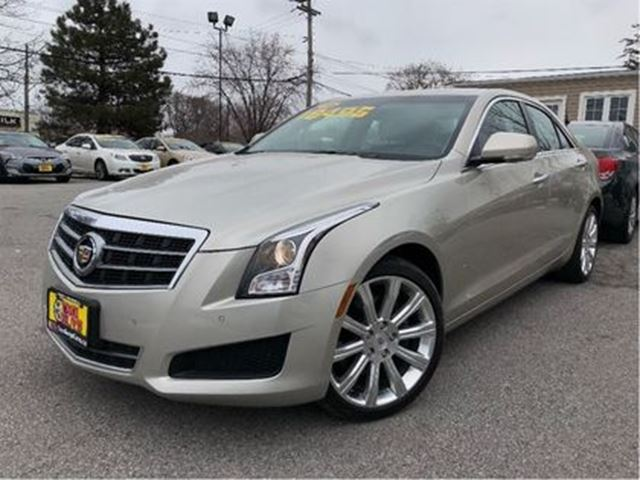 2014 CADILLAC ATS 2.0L Turbo Luxury AWD LEATHER NAV SUNROOF in St Catharines, Ontario