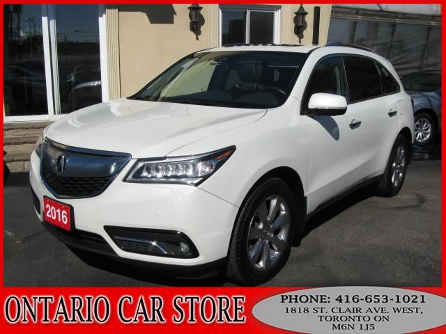 2016 ACURA MDX ELITE SH-AWD NAVIGATION TV DVD LEATHER SUNROOF in Toronto, Ontario