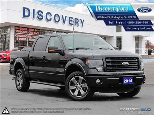 2014 FORD F-150 FX4 LEATHER BUCKETS, ROOF, NAVI, FX APPEARANCE in Burlington, Ontario