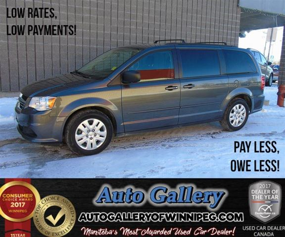 2016 DODGE GRAND CARAVAN SXT*Rear Air in Winnipeg, Manitoba