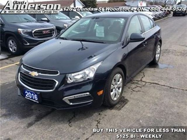 2016 Chevrolet Cruze LT - Heated Seats -  Cruise Control in Woodstock, Ontario