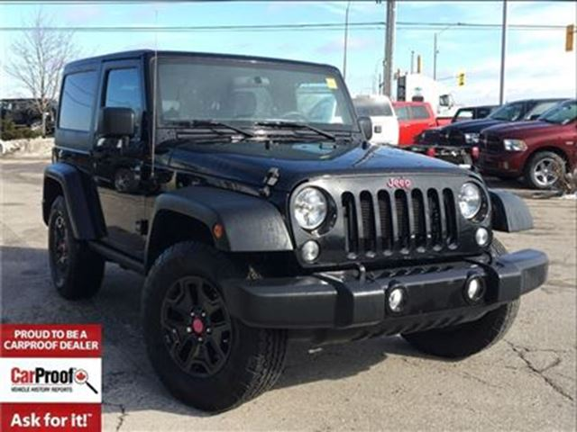2015 JEEP WRANGLER SPORT WILLYS EDITION**BLUETOOTH**A/C** in Mississauga, Ontario