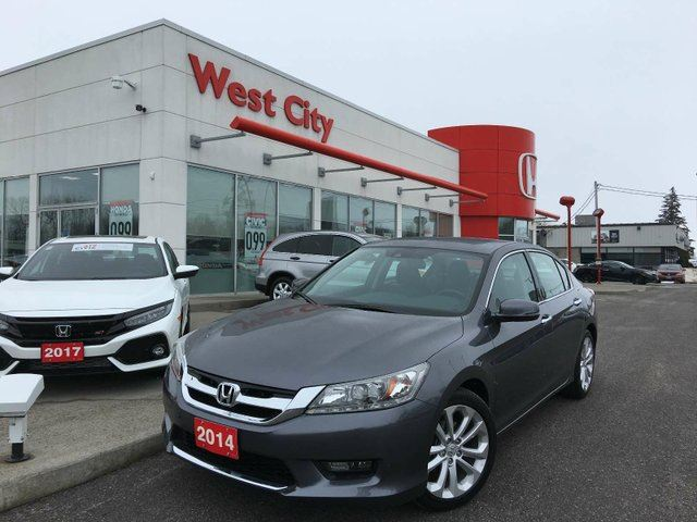 2014 HONDA ACCORD TOURING,V6,LEATHER! in Belleville, Ontario