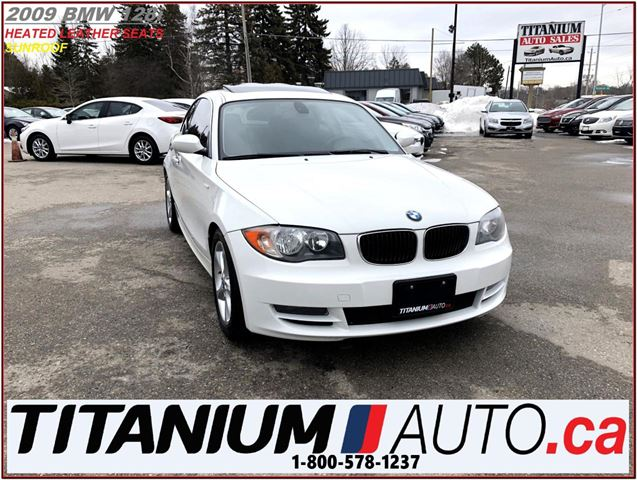 2009 BMW 1 SERIES Sunroof+Heated Leather+New Tires & Brakes+USB & AU in London, Ontario