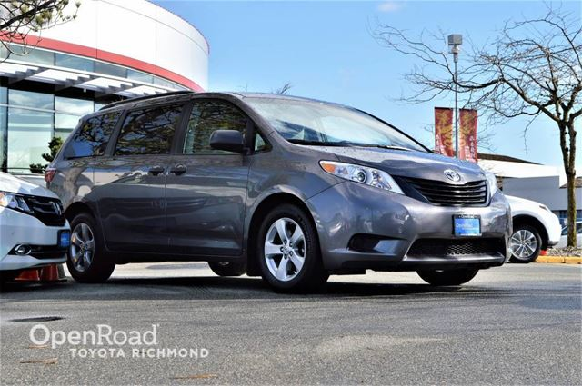 2015 TOYOTA SIENNA Front and rear A/C, Bluetooth audio, Power mirr in Richmond, British Columbia