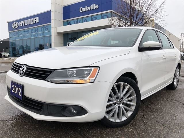 2012 VOLKSWAGEN JETTA SPORTLINE  2.5L  ALLOYS   LEATHER  ROOF in Oakville, Ontario