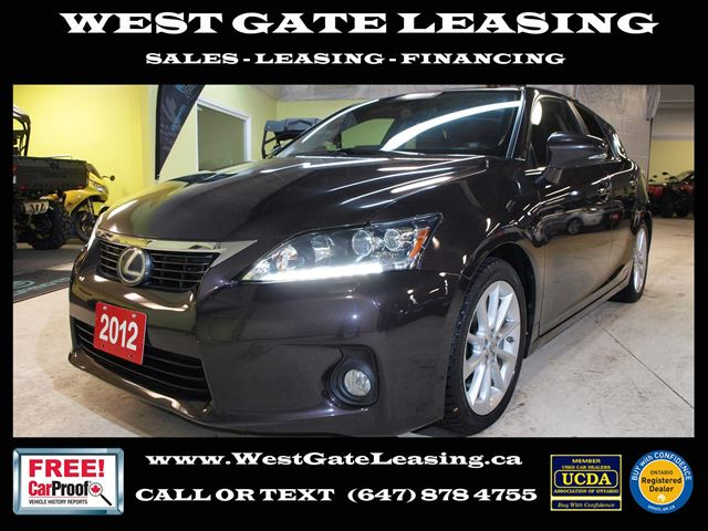 2012 LEXUS CT 200H LUXURY  NAVIGATION  CAMERA  SUNROOF  in Vaughan, Ontario