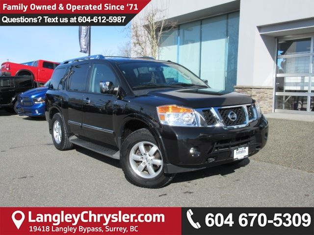 2013 NISSAN ARMADA Platinum <B>* DVD entertainment*NAVIGATION*LEATHER*<b> in Surrey, British Columbia