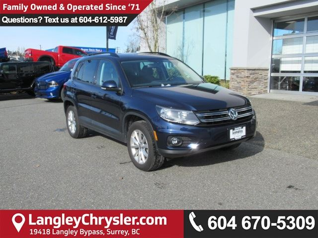 2017 VOLKSWAGEN TIGUAN Wolfsburg Edition <b>*6.3 TOUCHSCREEN*HEATED SEATS*BACKUP CAMERA*<b> in Surrey, British Columbia