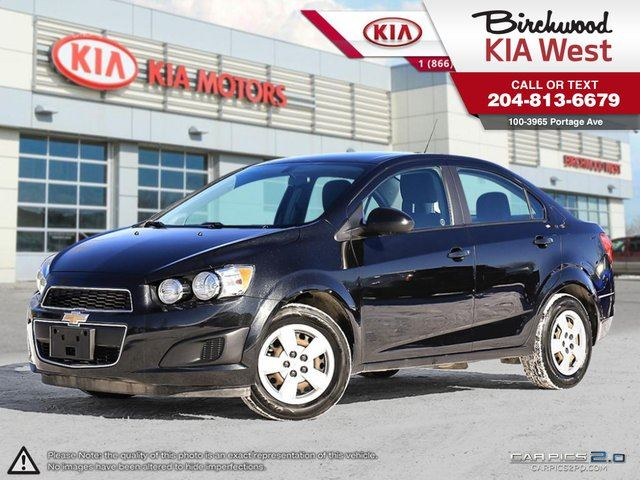 2015 CHEVROLET SONIC LS **LOW KM/ BLUETOOTH** in Winnipeg, Manitoba