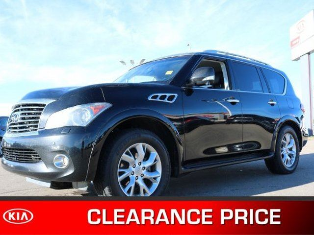 2012 INFINITI QX56 4WD PREMIUM Accident Free, Navigation (GPS), Rear DVD, Leather, Heated Seats, Sunroof, Back-up in Sherwood Park, Alberta