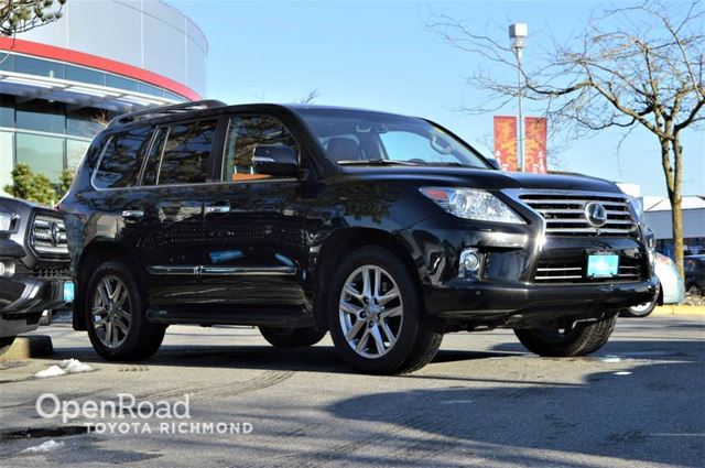 2013 LEXUS LX 570 Entertainment system, Leather interior, Front a in Richmond, British Columbia