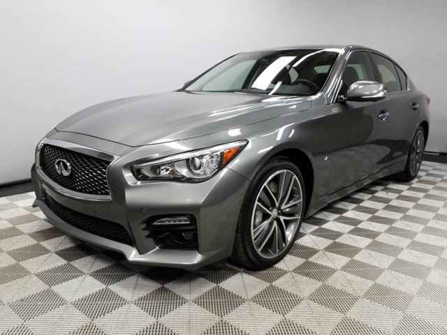 2015 INFINITI Q50 Sport AWD - Local One Owner Trade In | $1600 Carproof Claim | Navigation | Back Up/Birds Eye View Camera | Power Sunroof | 19 Inch Wheels | Heated/Memory Front Seats | Dual Zone Climate Control with AC | Parking Sensors | Blind Spot Monitor | Lane De in Edmonton, Alberta