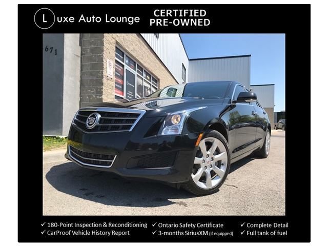 2014 CADILLAC ATS LUXURY AWD - SUNROOF, POLISHED WHEELS, BACK-UP CAMERA, SATELLITE RADIO, LOADED!! LUXE CERTIFIED PRE-OWNED! in Orleans, Ontario