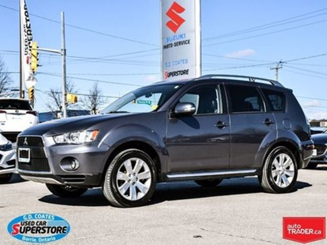 2010 MITSUBISHI OUTLANDER GT ~Nav ~Backup Cam ~Heated Leather in Barrie, Ontario