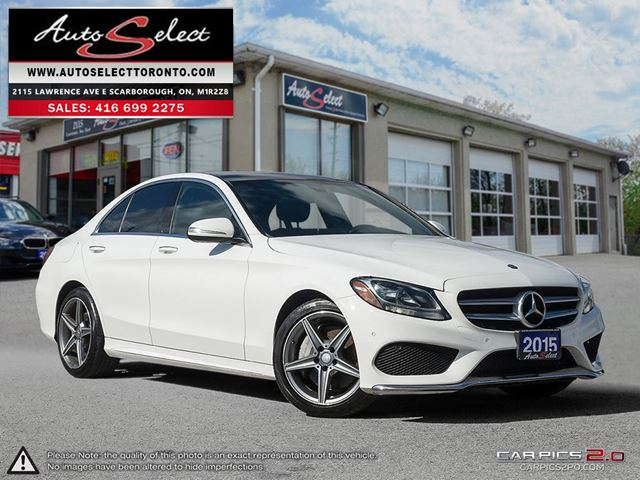 2015 MERCEDES-BENZ C-CLASS 4Matic C300 AWD ONLY 70K! **TECHNOLOGY PKG** CLN CARPROOF in Scarborough, Ontario