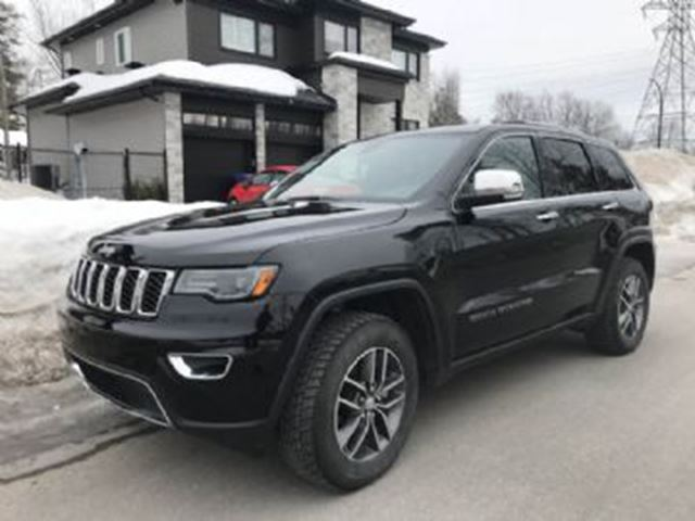 2018 JEEP Grand Cherokee LIMITED AWD Sunroof/leather/NAv-PROTECTION CONTRE USURE in Mississauga, Ontario