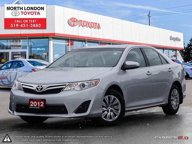 2012 TOYOTA Camry LE One Owner, No Accidents, Toyota Serviced in London, Ontario