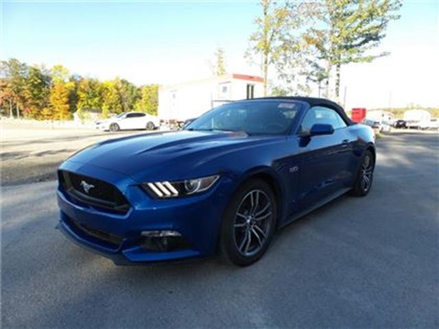2017 Ford Mustang GT Premium Convertble Blue !3,xxx kms in St George Brant, Ontario