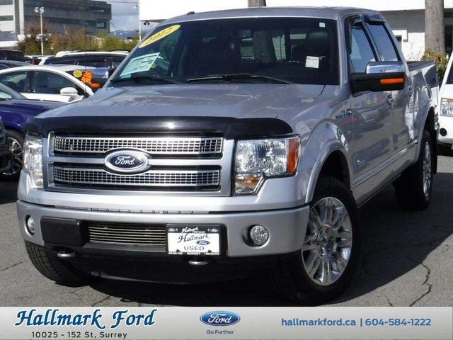 2012 FORD F-150 Platinum SuperCrew 4X4 EcoBoost w Nav, Leather, Roof in Surrey, British Columbia