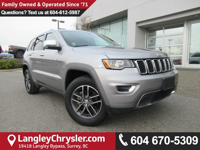 2017 JEEP GRAND CHEROKEE Limited <B>*SUNROOF*LEATHER*5.0 TOUCHSCREEN*<b> in Surrey, British Columbia