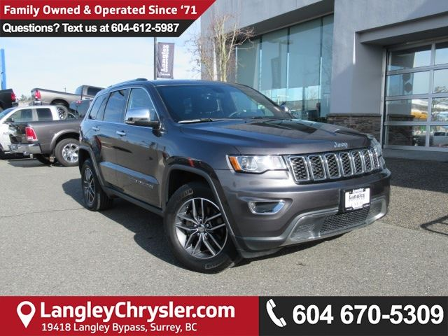 2017 JEEP GRAND CHEROKEE Limited <B>*REMOTE START*5.0 TOUCHSCREEN*LEATHER*<b> in Surrey, British Columbia