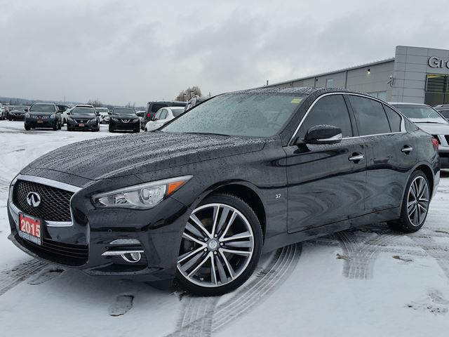 2015 INFINITI Q50 Limited AWD w/all leather,NAV,climate control,rear cam,power moonroof,heated seats,adaptive cruise in Cambridge, Ontario