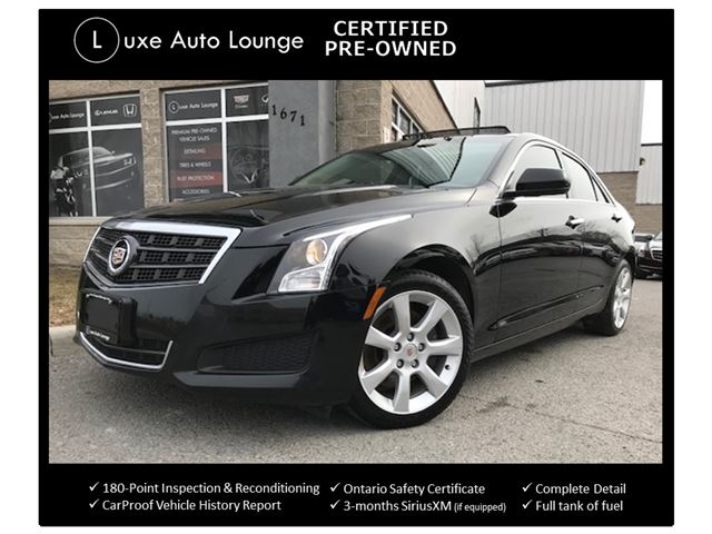 2013 CADILLAC ATS 2.0 TURBO AWD! SUNROOF, BOSE SURROUND SOUND, CUE SYSTEM, BACK-UP CAMERA, LOADED! LUXE CERTIFIED PRE-OWNED! BALANCE OF CADILLAC WARRANTY! in Orleans, Ontario