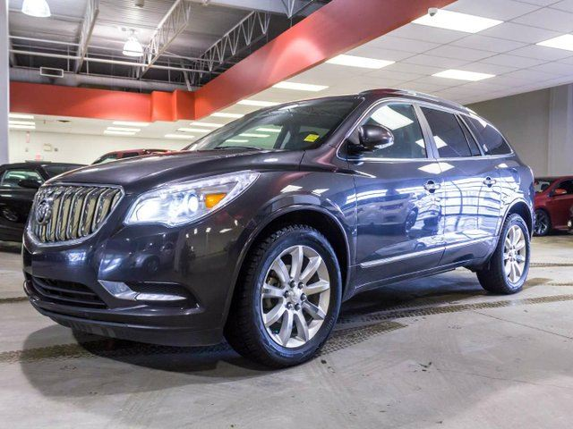 2013 BUICK ENCLAVE Premium, Rear DVD, Leather, heated and cooled seats, Navigation, Dual Sunroof in Edmonton, Alberta