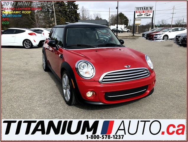 2013 MINI COOPER GPS+Pano Roof+Heated Leather Seats+BlueTooth+ECO++ in London, Ontario