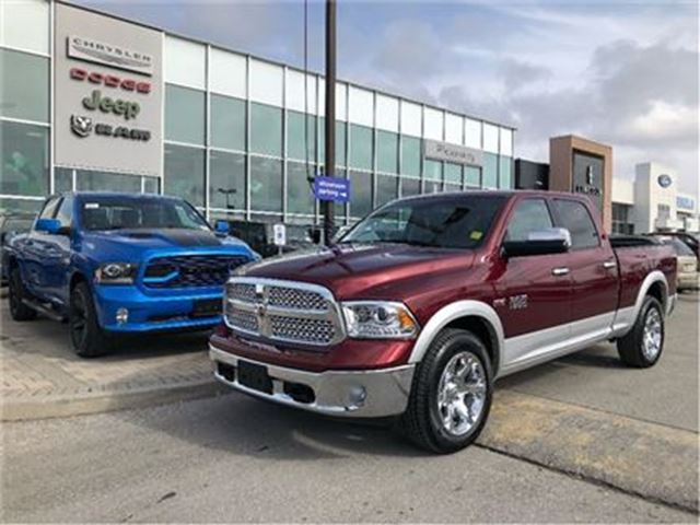 2018 DODGE RAM 1500 Laramie CREW 4X4 CAMERA APPLE CARPLAY in Pickering, Ontario