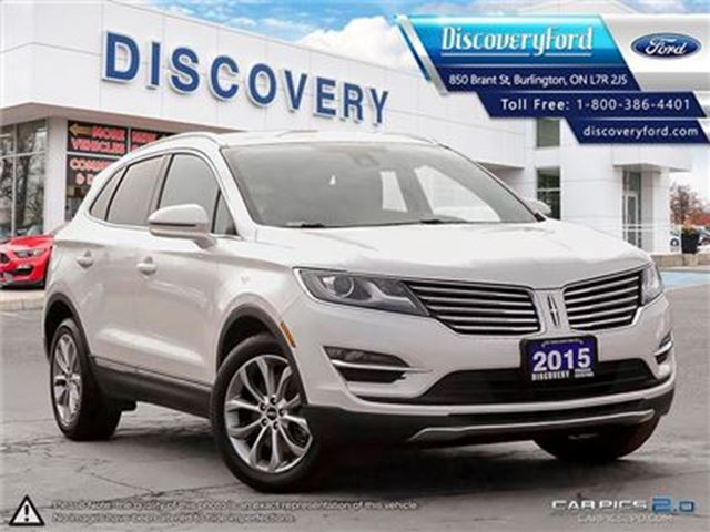 2015 LINCOLN MKC SELECT AWD ROOF, LEATHER in Burlington, Ontario