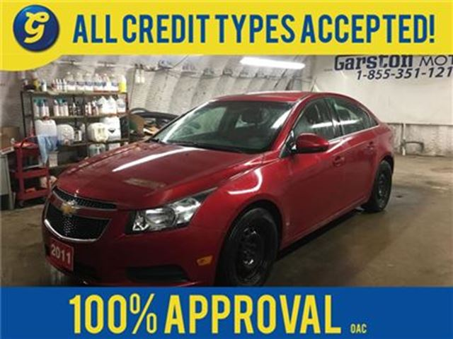 2011 CHEVROLET CRUZE LT*TURBO*KEYLESS ENTRY w/REMOTE START*CLIMATE CONT in Cambridge, Ontario