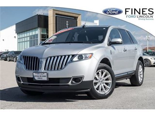 2013 LINCOLN MKX 1 OWNER, ACCIDENT FREE & LOW MILEAGE! in Bolton, Ontario