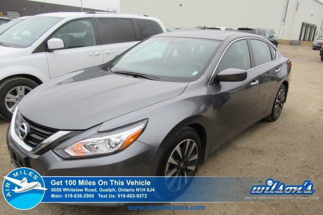 2018 NISSAN ALTIMA 2.5 SV    SUNROOF   REMOTE START   HTD STEERING/SEATS   REAR CAM   BLUETOOTH   ALLOYS in Guelph, Ontario