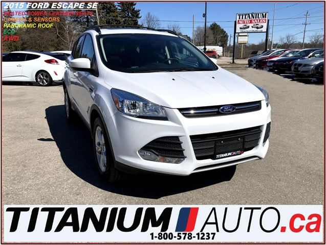 2015 FORD ESCAPE SE+4WD+Pano Roof+GPS+Camera & Sensors+Leather Heat in London, Ontario