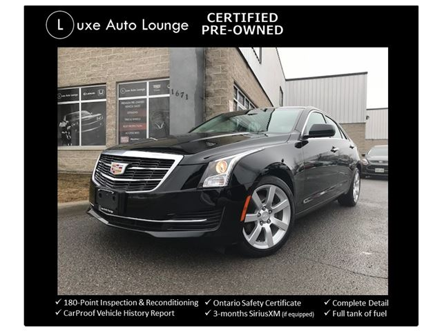 2015 CADILLAC ATS AUTO, BOSE AUDIO, LEATHER, HEATED POWER SEATS, BLUETOOTH, SATELLITE RADIO, BALANCE OF CADILLAC WARRANTY, LUXE CERTIFIED PRE-OWNED! in Orleans, Ontario
