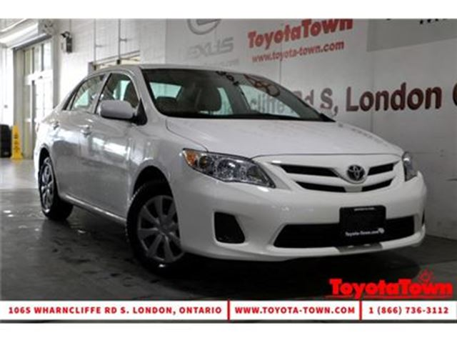 2013 TOYOTA COROLLA SINGLE OWNER CE HEATED SEATS POWER WINDOWS in London, Ontario