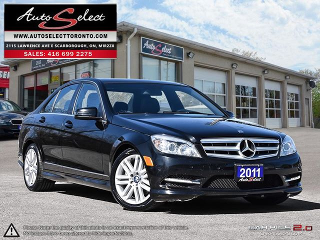 2011 MERCEDES-BENZ C-Class C250 AWD ONLY 127K! **SPORT PKG** CLEAN CARPROOF in Scarborough, Ontario
