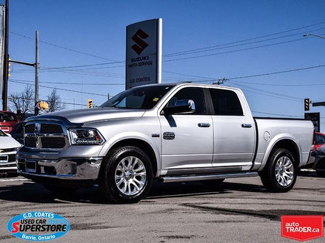 2013 DODGE RAM 1500 Laramie Longhorn ~Nav ~Backup Cam ~Power Moonroof in Barrie, Ontario