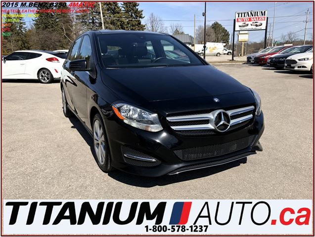2015 MERCEDES-BENZ B-CLASS 4Matic+AWD+GPS+Camera+Pano Roof+Power Leather Seat in London, Ontario