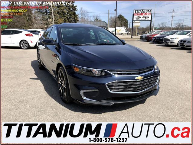2017 CHEVROLET MALIBU LT-2+GPS+Camera+Pano Roof+Leather Heated Seats+ECO in London, Ontario