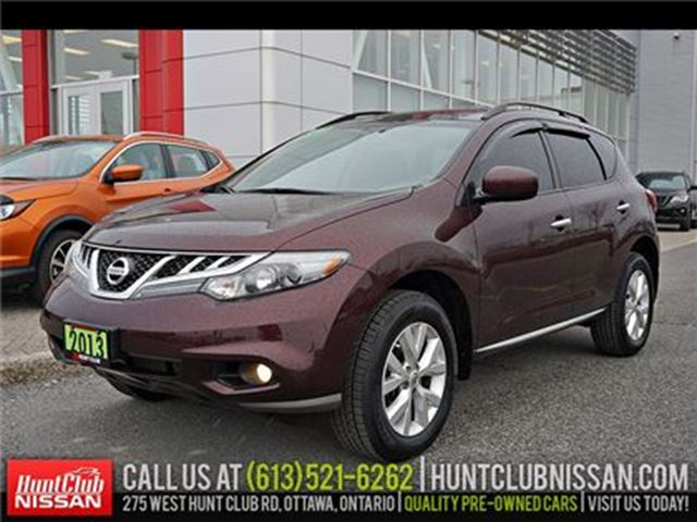 2013 NISSAN Murano SV AWD   Pano Moonroof, Htd Seats, Rear Camera in Ottawa, Ontario