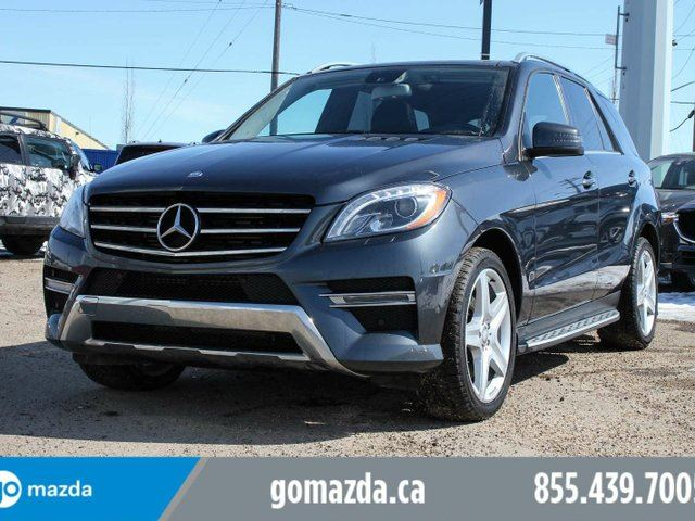 2013 MERCEDES-BENZ M-CLASS BLUE TEC LEATHER SUNROOF BLIND SPOT in Edmonton, Alberta