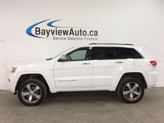 2014 JEEP GRAND CHEROKEE Overland - DIESEL|QUADRA-LIFT|PANOROOF|HTD/AC LTHR|NAV|BSA|ADAPTIVE CRUISE! in Belleville, Ontario